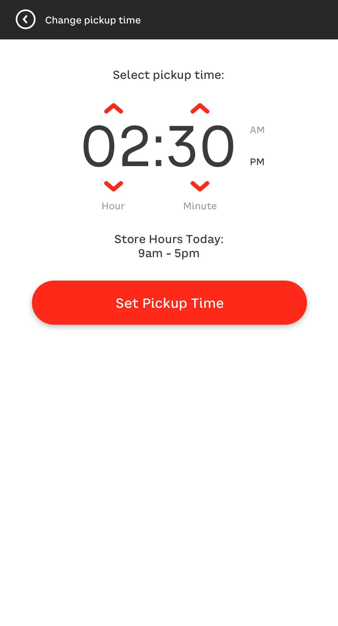 Set-Pickup-Save-Time